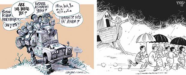 Afrikanische Karikaturisten
